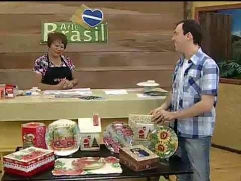 ARTE BRASIL - MAMIKO YAMASHITA - DÉCOUPAGE EM PRATO TRANSPARENTE (16/11/2011) - YouTube