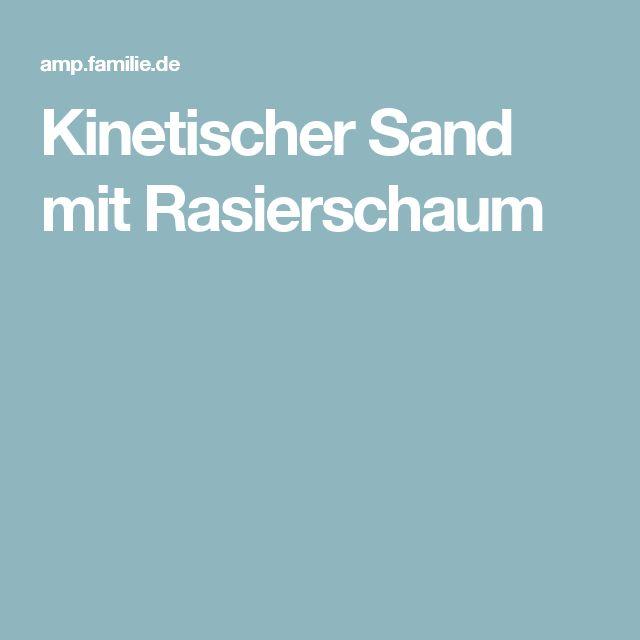 Kinetischer Sand mit Rasierschaum