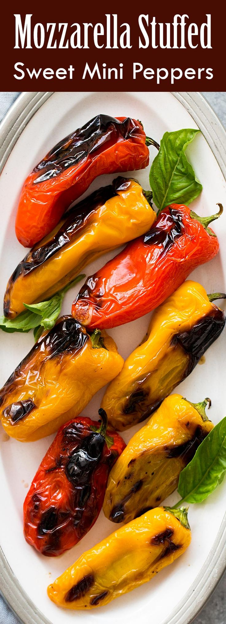Perfect summer appetizer! These sweet mini peppers are stuffed with smoked mozzarella cheese and basil. Grill, bake, or broil. So easy! A real crowd pleaser.…