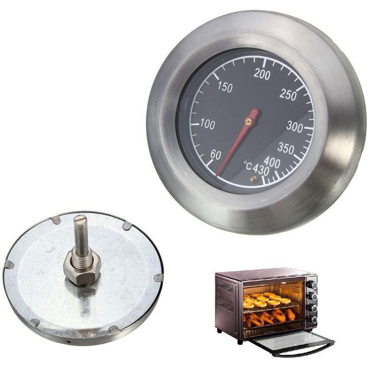 2016 New High Quality Barbecue BBQ Smoker Grill Stainless Steel Thermometer Temperature Gauge 60-430