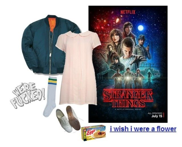"""""""stranger things"""" by ghoulgirls on Polyvore featuring Ryder, Nude, Yohji Yamamoto, netflix, Eleven and strangerthing"""