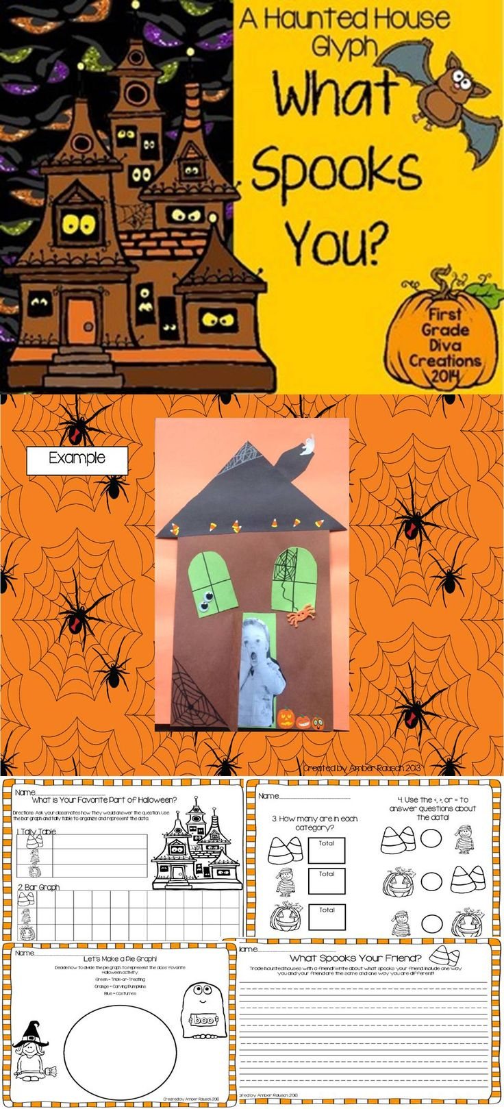 halloween math activities a halloween haunted house glyph - Halloween Glyphs