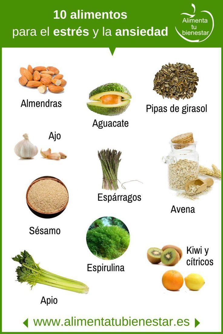 10 alimentos que alivian el estrés y la ansiedad #alimentatubienestar  Más recursos en  http://psicopedia.org