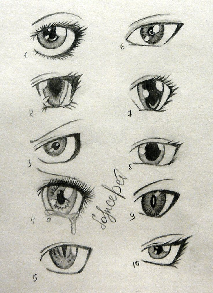 Sketch of anime boys eyes buscar con google