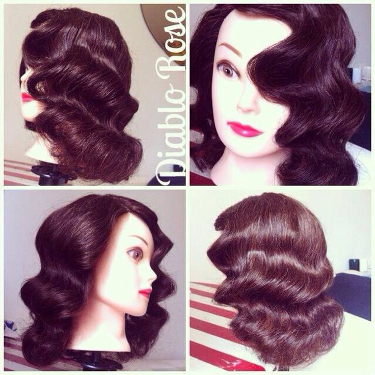 Perfect Hollywood waves by Diablo Rose, our Creative Director at Le Keux Pin up hair, marcel waves, pin curls