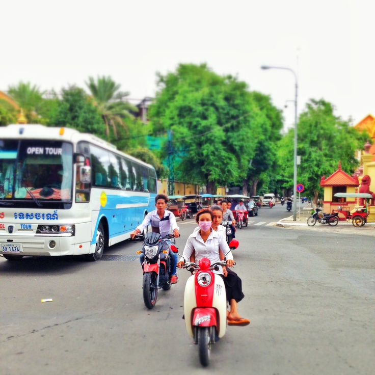 The Streets of Cambodia by Jamie Hill #travel #iphone #scooter