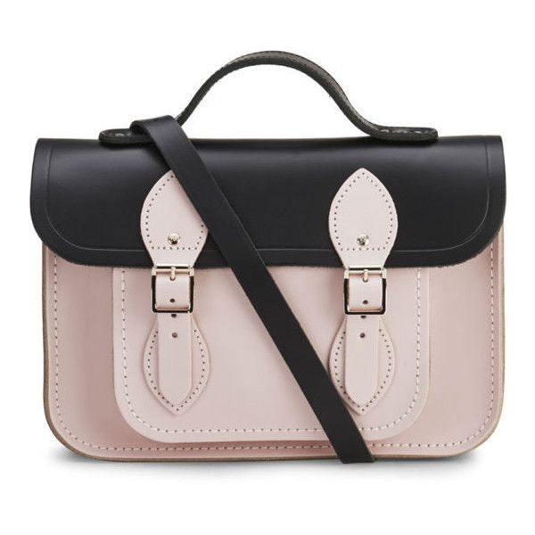 The Cambridge Satchel Company Women's 11 Inch Two Tone Satchel -... (355 BRL) ❤ liked on Polyvore featuring bags, handbags, purses, accessories, bolsas, bolsos, handbag purse, two tone leather handbags, pink purse and leather purses