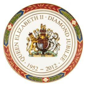 Diamond Jubilee Round Tray £25 Royal Worcester  from Royal Worcester