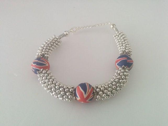 Tibetan Silver GB Bracelet £5.99