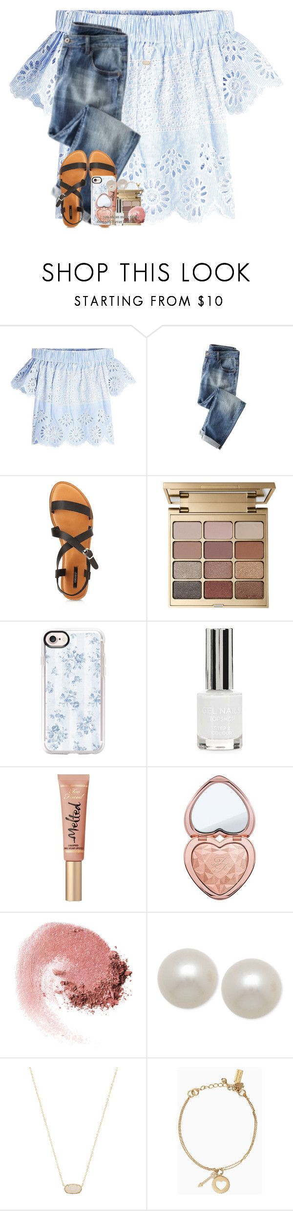 """if the hurt comes, so will the happiness"" by emilyandella ❤ liked on Polyvore featuring Sea, New York, Forever 21, Stila, Casetify, Topshop, Too Faced Cosmetics, NARS Cosmetics, Honora, Kendra Scott and Kate Spade"