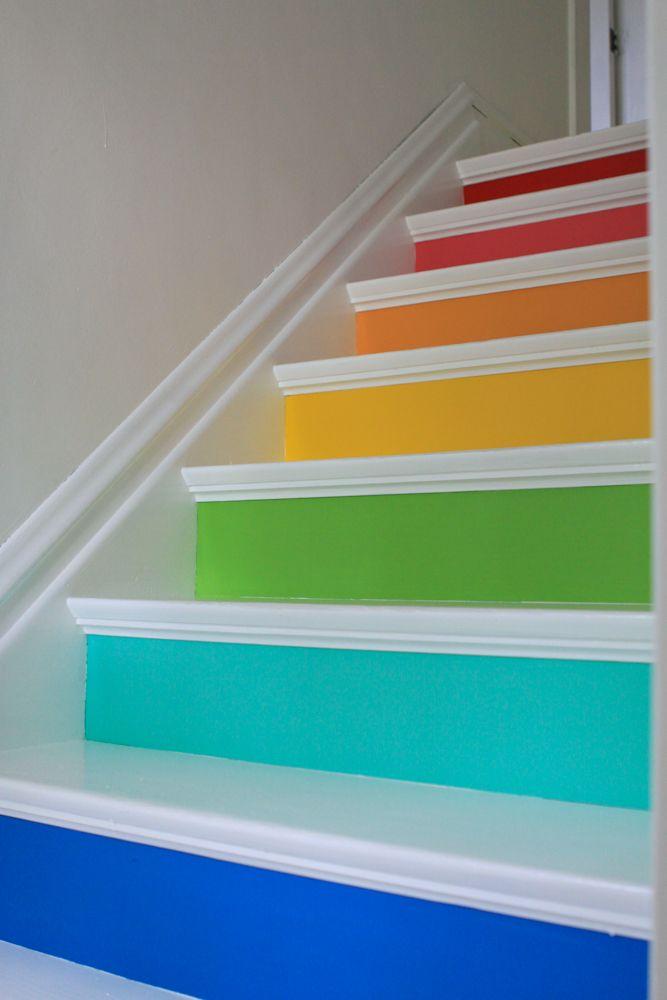 Rainbow Stairs!  Whatever blog, Meg Duerksen