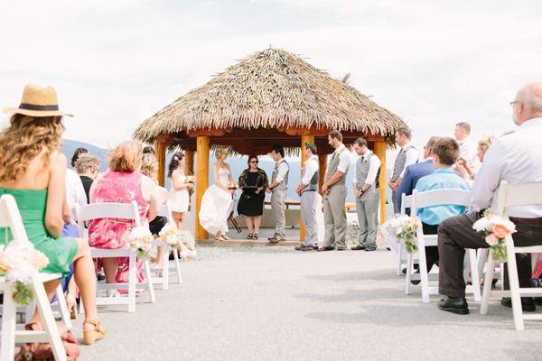 Ceremony at the Gazebo at La Punta Norte B&B in Summerland, BC