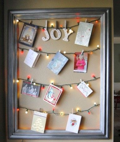 14 creative ways to display your Christmas cards