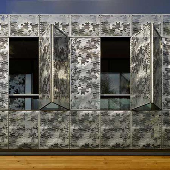 17 best images about facade perforated metal cladding on pinterest architecture exterior - The shutter clad house ...