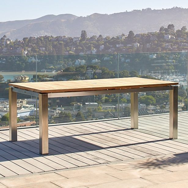 Milano Stainless Extension Table 78 120 Outdoor Living Outdoor