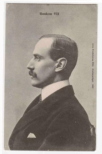 King Haakon VII Norwegian Royalty Side Profile Norway 1907 Postcard   eBay