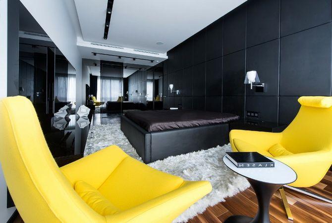 Чёрно-белый интерьер квартиры Этот чёрно-белый интерьер квартиры в Москве, разработанный студией Geometrix Design, явля... #минимализм #черно-белый