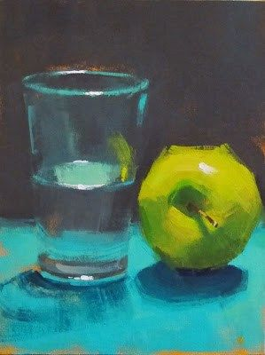 "Daily Paintworks - ""GLASS HALF FULL"" by Helen Cooper"
