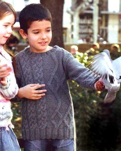 Детские свитера - вязание спицами
