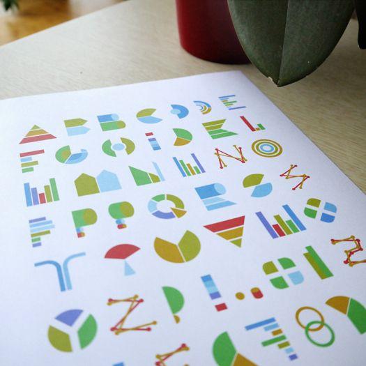 Handmade fonts on the Behance Network