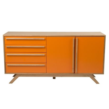 Mika 4 Door/2 Drawer Buffet | Freedom Furniture and Homewares