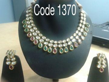 KUNDAN POLKI NECKLACE SET #Jewellery #Pashminashawls