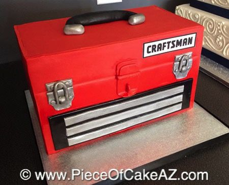 Craftsman tool box cake