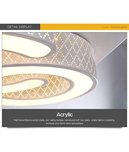 Style home LED Wandleuchte Deckenleuchte dimmbar Fernbedienung 6817 (6817-24W): Amazon.de: Beleuchtung