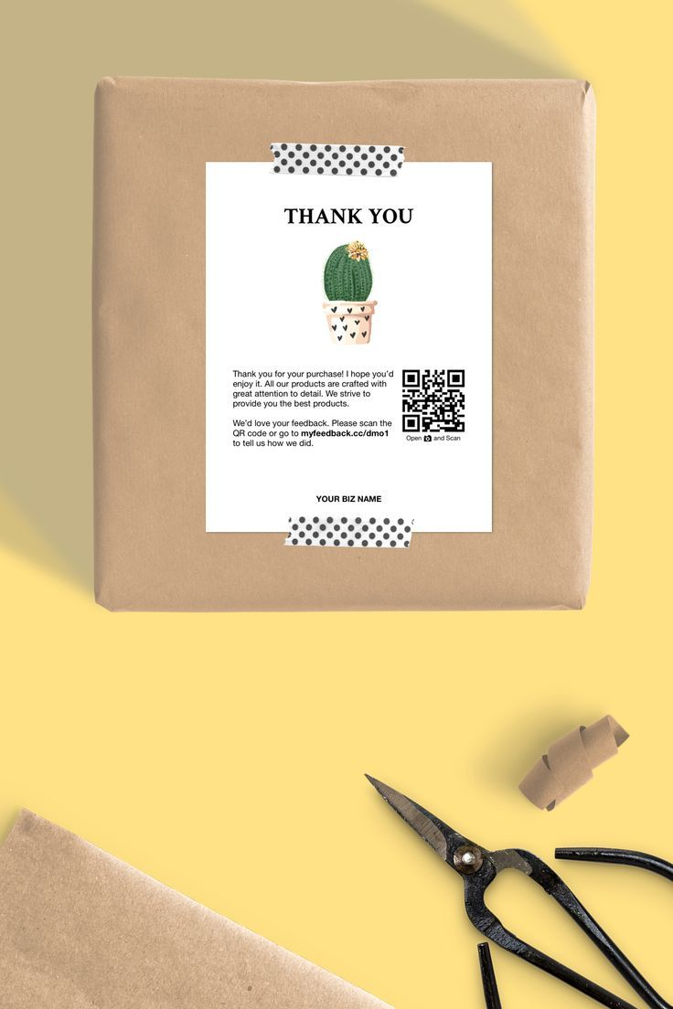 Printable Thank You Packaging Inserts For Online Shop And Small