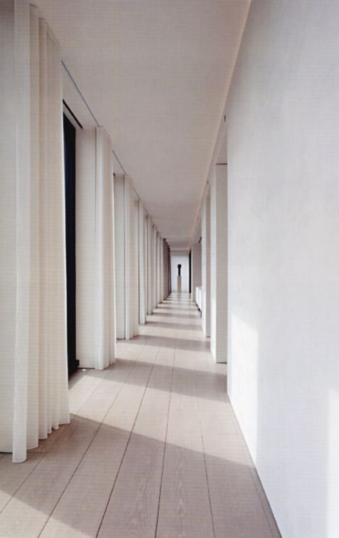 Corridor of the Ian Schrager Penthouse by John Pawson.