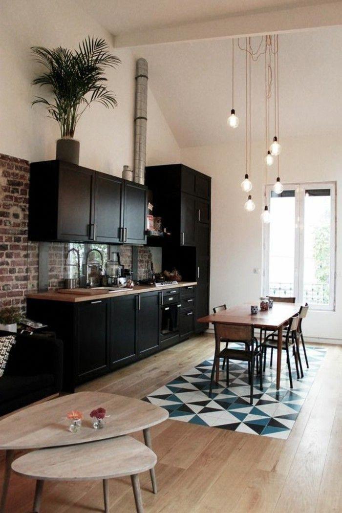 Idee Deco Pas Cher Appartement Sol En Parquet Clair Mosaique Blanc
