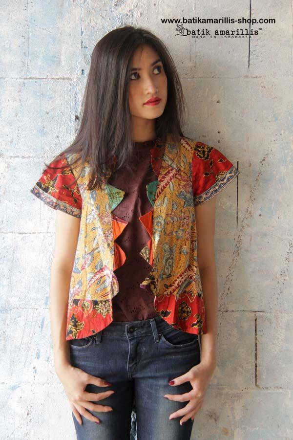 batik amarillis's Rainbow jacket www.batikamarillis-shop.com