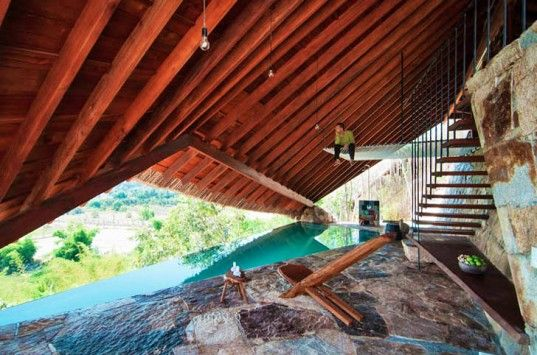 The Tent: Low-Hanging Wooden Roof Creates a Secret Hideaway for Hot Spring Visitors in Vietnam | Inhabitat - Sustainable Design Innovation, Eco Architecture, Green Building