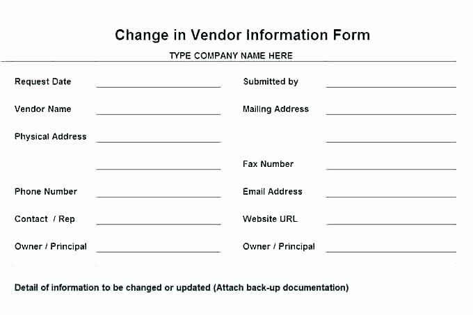 Vendor Information Form Template Elegant Vendor Information Form Template Excel Letter Template Word Letter Templates Free Reference Letter Template