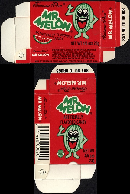 Ferrara Pan - Mr Melon 4/5 oz. candy box - 1980s | Flickr - Photo Sharing! I WANT THESE NOW!!!!!