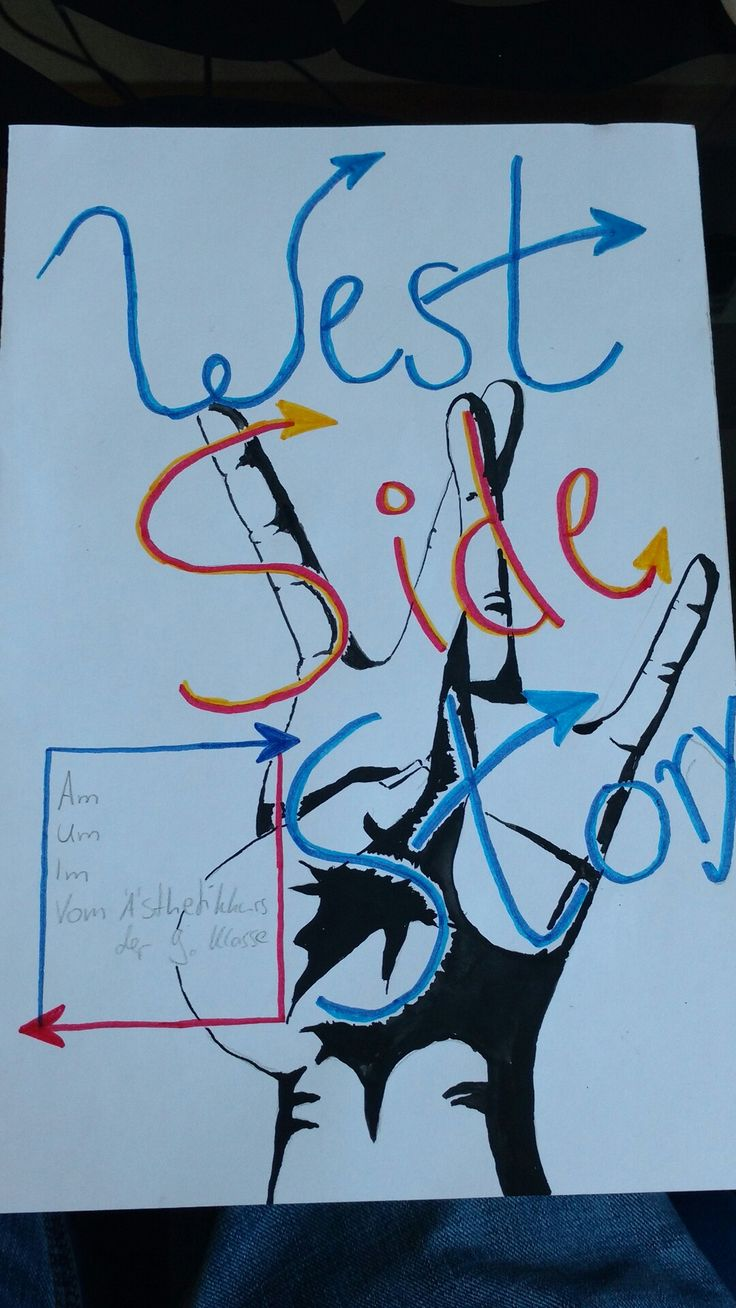 "Artwork for school; we're doing a play with the theme ""Westside Story reloaded"""
