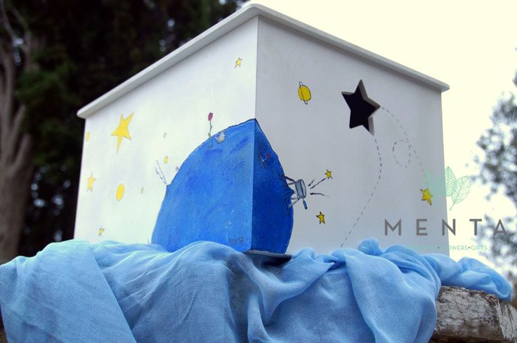 One side of the box. You can choose your theme and we will draw it! https://www.facebook.com/mentaweddings