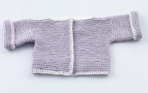 Loom Knit Baby Sweater And Hat  For Martha Stewart's knitting loom.