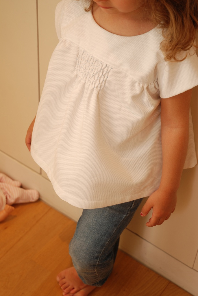 Smocked Oliver + S Ice Cream Blouse