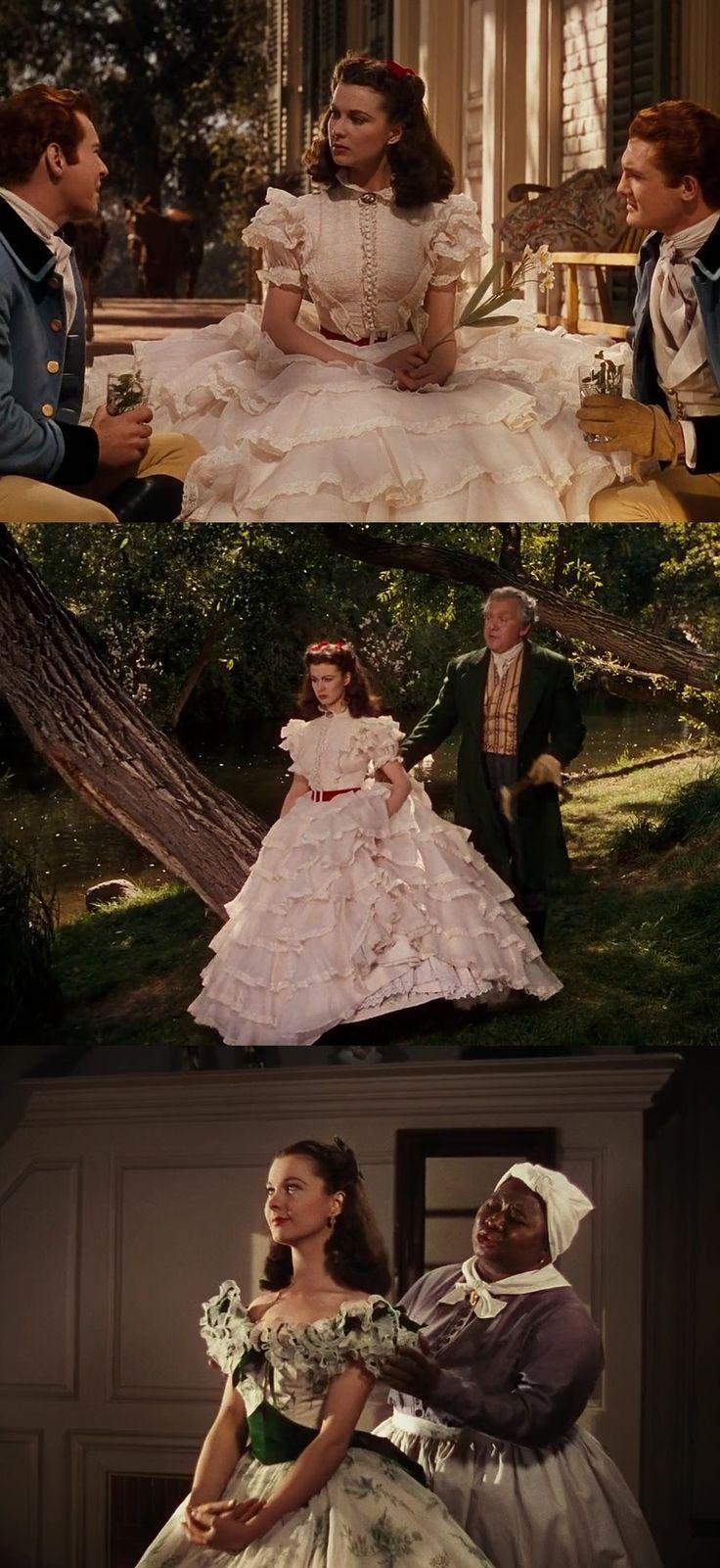 Figurino: … E o Vento Levou  Gone With the Wind Victor Flaming Walter Plankett Vivian Leigh Scarlett O'Hara