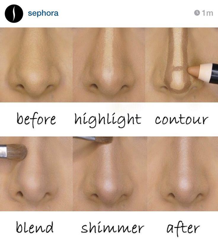 Amazing nose reducing tutorial from Sephora!