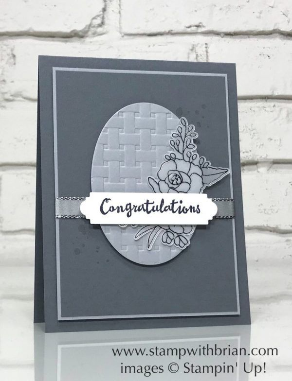 Petal Palette, Basket Weave Dynamic Textured Impressions Embossing Folder, Stampin' Up!, Brian King, GDP126, wedding card
