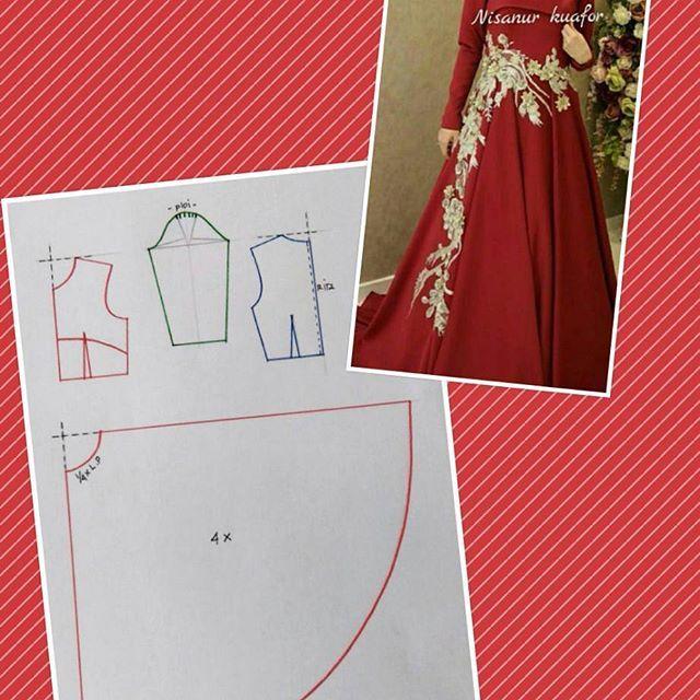#pecahpola #polabaju #poladress #dresspattern #polagaun #pattern #fashionpattern #pomobaki