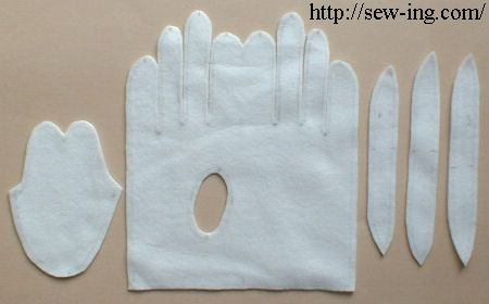 Tutorial and pattern for making gloves