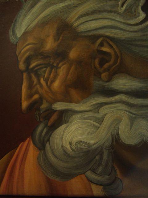 God (michelangelo buonarroti,oil painting copy)