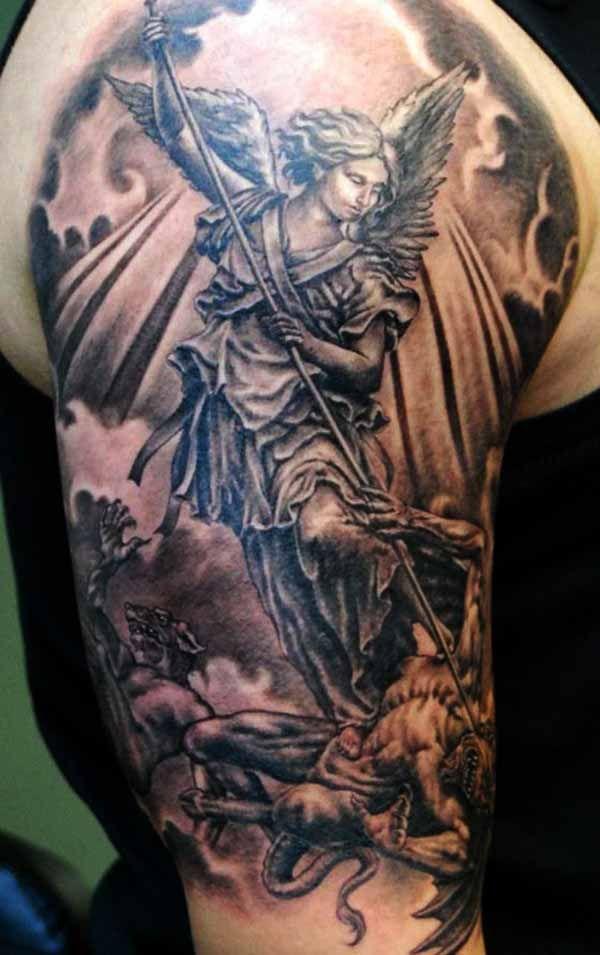 22 best good and evil tattoos images on pinterest evil tattoos tatoos and amazing tattoos. Black Bedroom Furniture Sets. Home Design Ideas