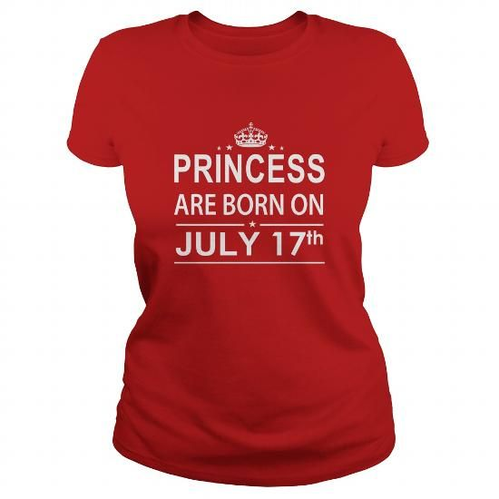 Awesome Tee 0717 July 17 Birthday Shirts Princess Born T Shirt Hoodie Shirt VNeck Shirt Sweat Shirt Youth Tee for Girl and Men and Family T-Shirts