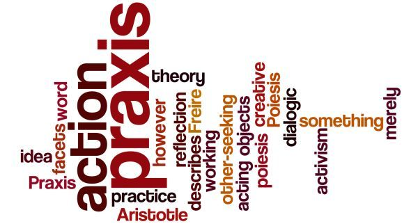 praxis - created at wordle.net