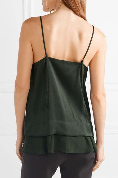 By Malene Birger   Caralino layered satin and georgette camisole   NET-A-PORTER.COM