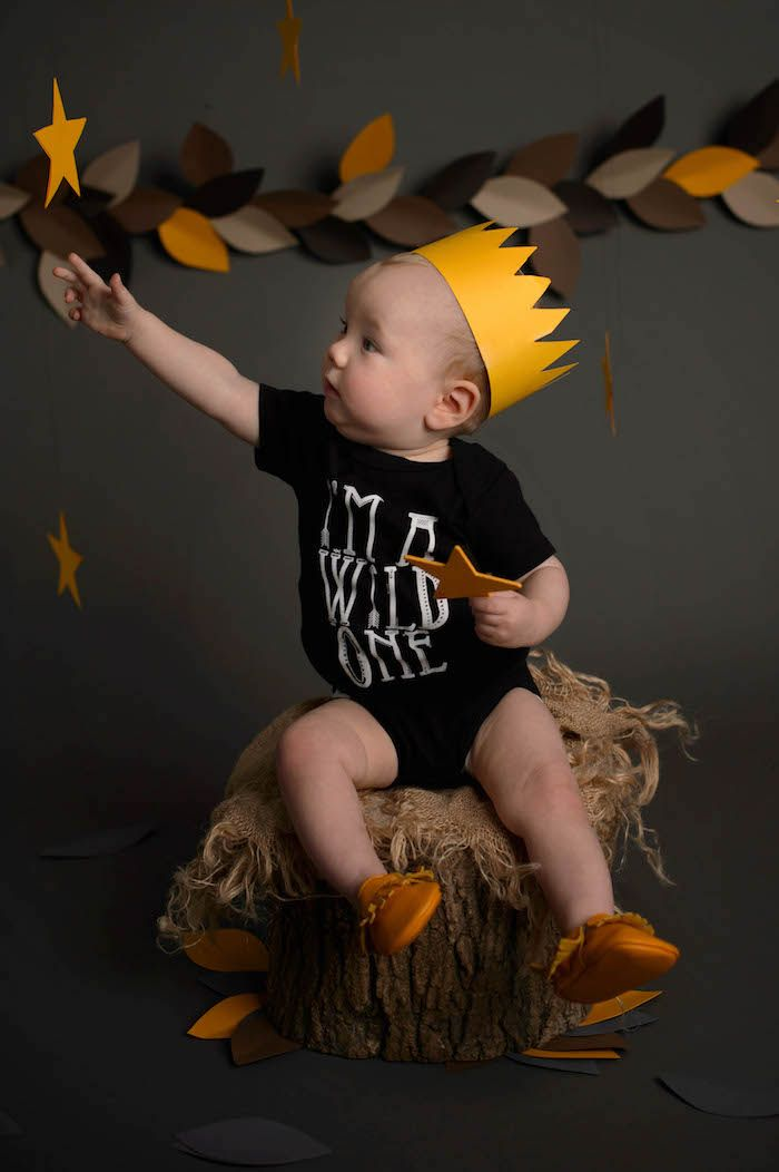 "Little Boy from a ""Wild One"" Where the Wild Things Are Cake Smash + 1st Birthday via Kara's Party Ideas - KarasPartyIdeas.com (24)"